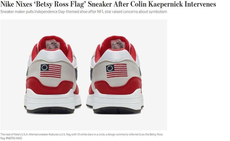 Report: Kaepernick moves Nike to pull flag shoe