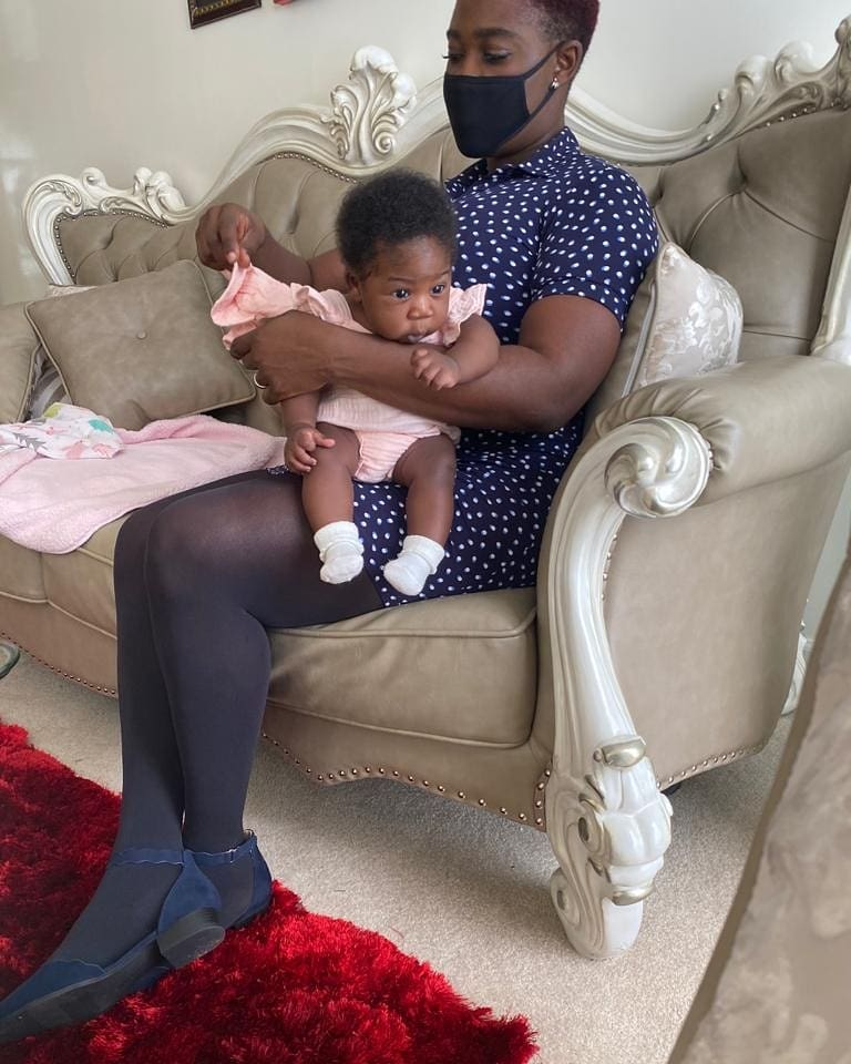 Watch lovely video of Mercy Johnson singing to her baby