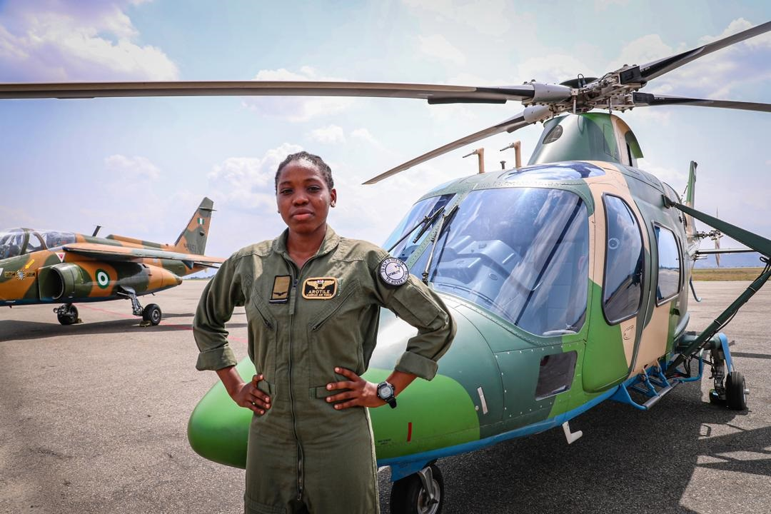 Nigeria's first-ever female combat Helicopter pilot, Arotile dies in tragic accident at 23