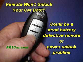 Key Fob Remote Won't Unlock Door