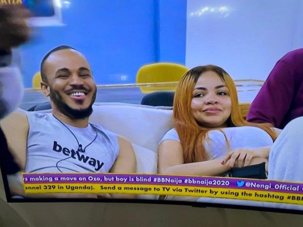 #BBNaija: Ozo complains about Kiddwaya always intruding whenever he's with Nengi (Video)